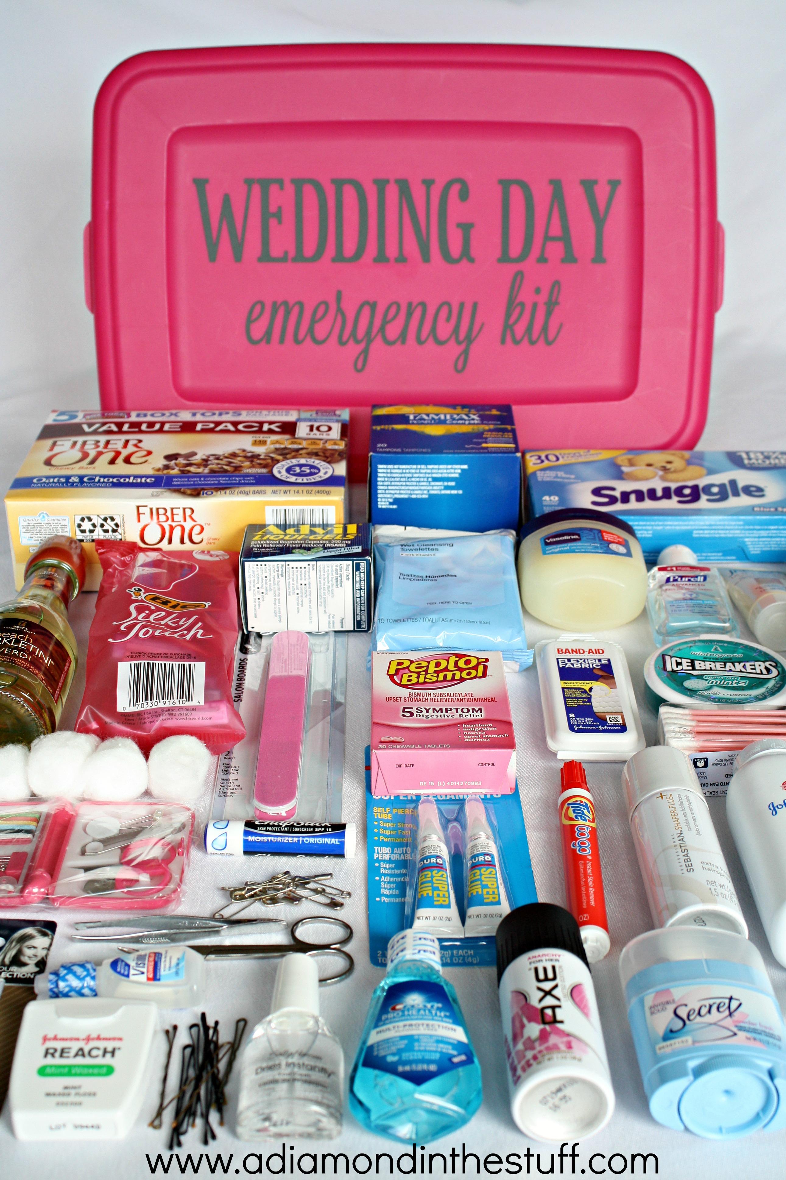 wedding day emergency kit. Black Bedroom Furniture Sets. Home Design Ideas