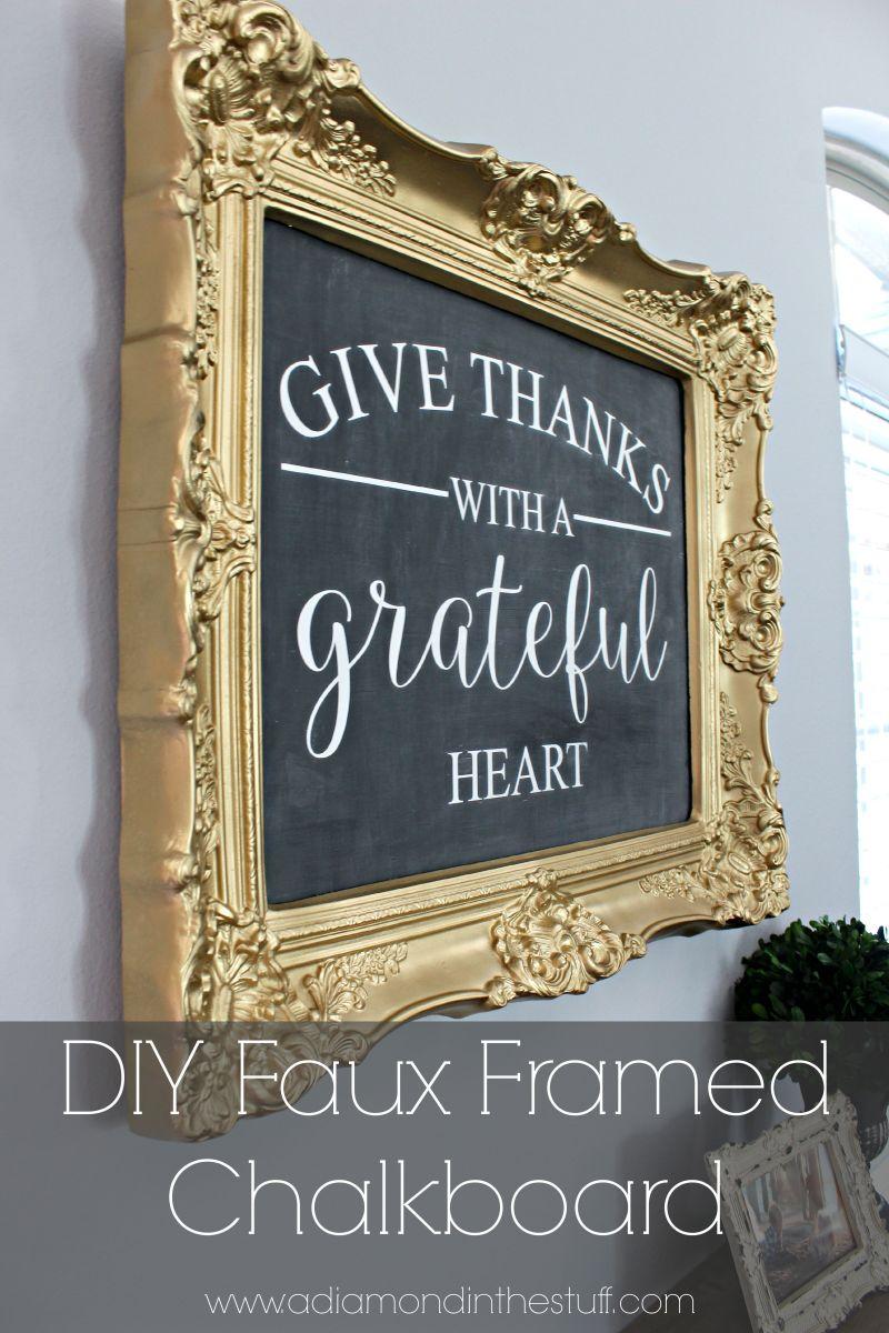 DIY Faux Framed Chalkboard