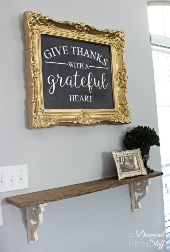 DIY Faux Framed Chalkboard | A Diamond in the Stuff