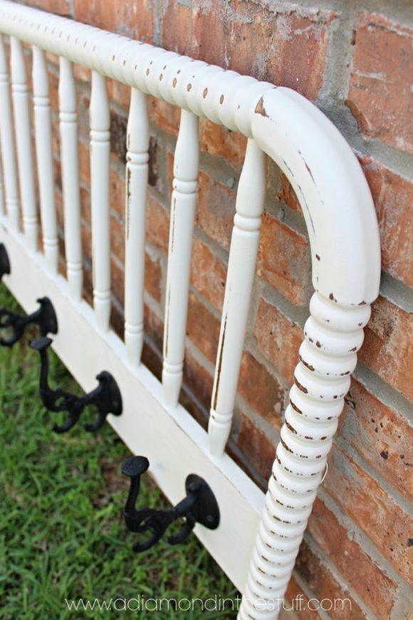 Upcycled Footbard Coat Rack | A Diamond in the Stuff
