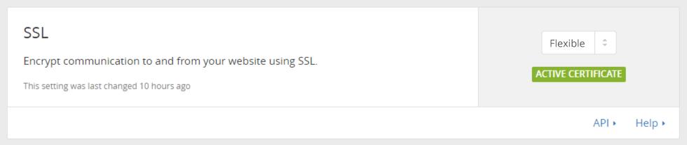 Cloudflare SSL - Flexible