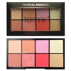 Technic 8 Colours Blush & Highlight Palette - Tropical Paradise
