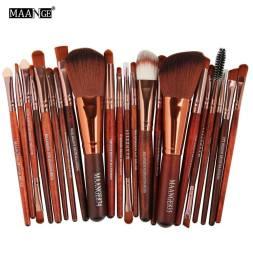 MAANGE 22pcs wood color brush set