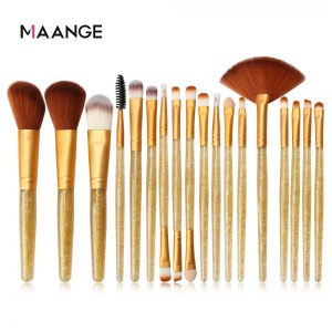 Maange 18pcs Golden With Golden Brush Set