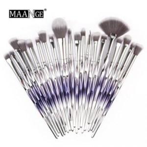 Maange 20pcs Makeup Brush Set Blue gradient color