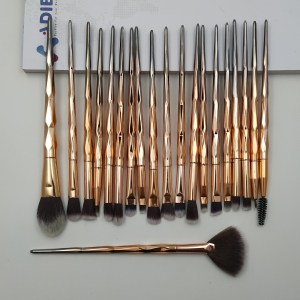 Maange 20pcs Makeup Brush Set Golden gradient color