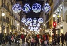 Alumbrado navideño en Almeria