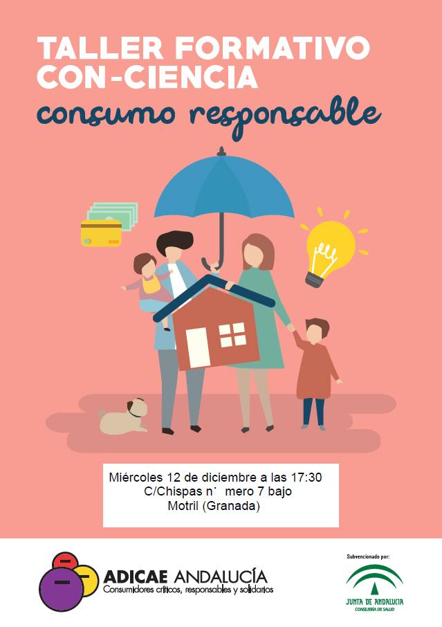 Taller formativo Con-Ciencia Consumo Responsable, este miércoles en Motril (Granada)