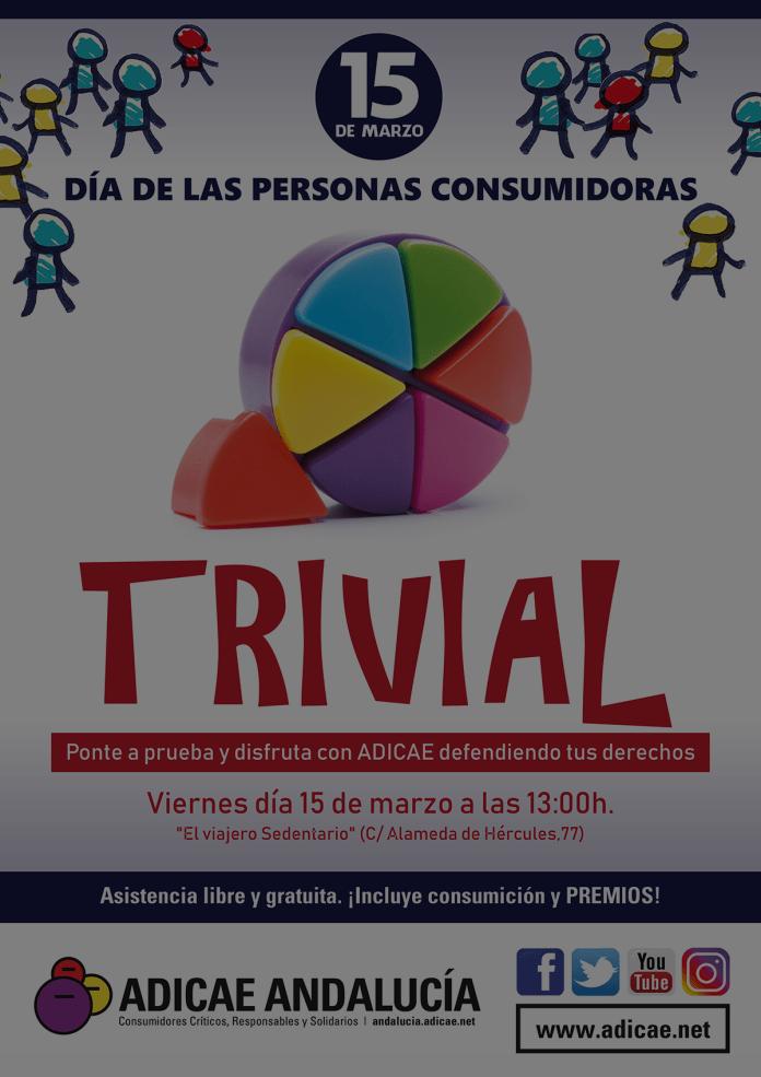 ADICAE Andalucía celebra el 15 de marzo el Día Mundial de los Derechos de los Consumidores