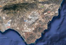 Vista satélite de Níjar, Almería