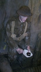 reading the letter in the trenches