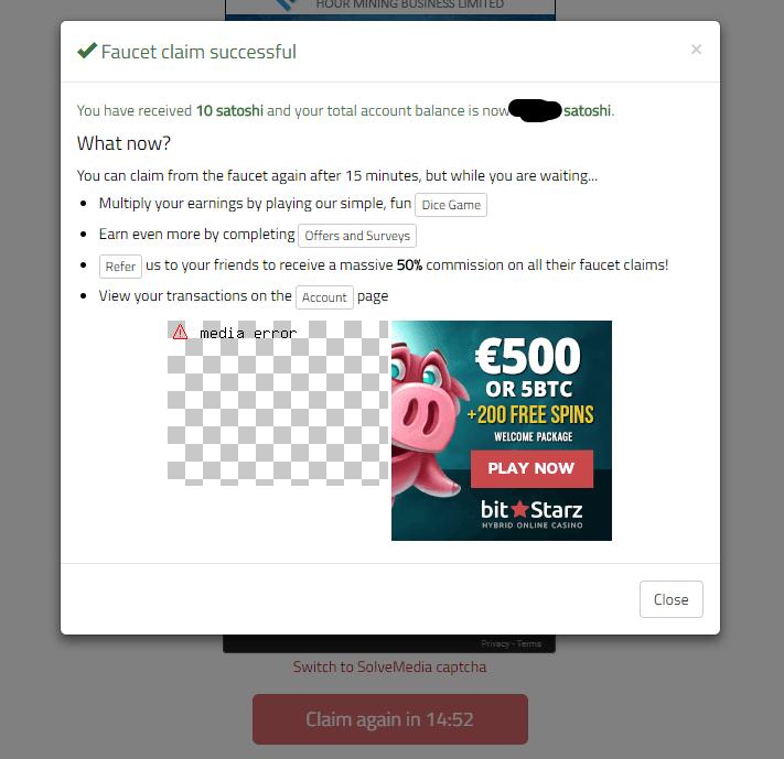 bonus bitcoin ist ein faucet zum gratis