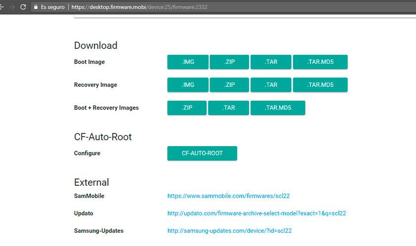 Descargar firmwares originales de Android