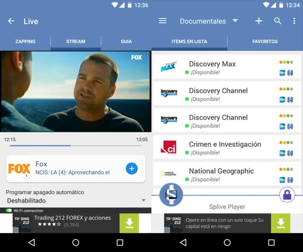 Descargar Splive Player para android APK