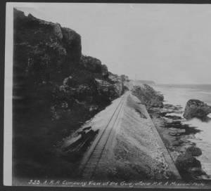 Vista de la Vía del Túnel de Guajataca - Cortesía de la Biblioteca Digital Puertorriqueña