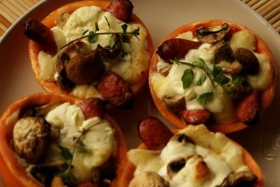 cosulete cu ciuperci si carnati 11