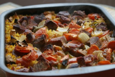 arroz con carne i verduras 09