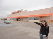The Home Depot that Josh and his eagle eyes spotted from the highway. I swore it didn't exist as we turned around to go find it.