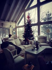 the cabin.
