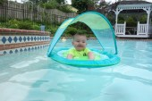 A little 4th of July pool action. This floaty was a huge hit.