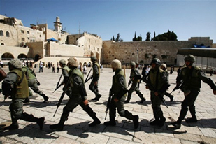 Israeli Police in Holy Mosque Al Aqsa vecinity, they are teaseing the world, and creating new hurdles for peace in the region.