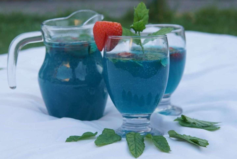 Apple Blue Lagoon Mocktail Recipe
