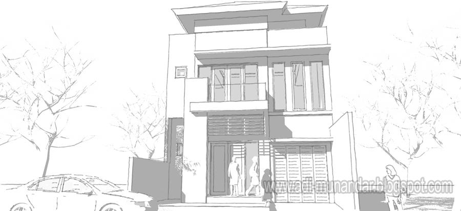 Rumah Minimalis Arsitek Surabaya Adi Arsitek