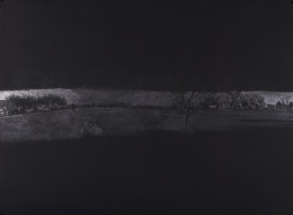 "Horizon (Right), graphite on paper, 22"" x 30"", 2012"