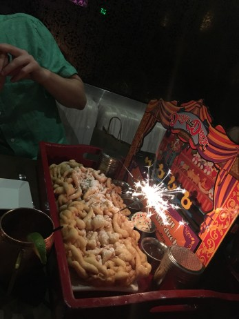 Carnival fun cakes (funnel cakes)