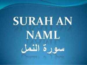 ANALISIS JINAS DALAM SURAT AN-NAML DAN AL-AHZAB