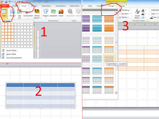 Langkah Untuk Membuat Tabel Dengan Powerpoint