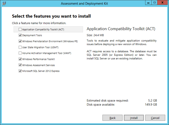 wadk-install-01 SCVMM 2012 SP1 in a LAB – Installation Guide (Install SCVMM)