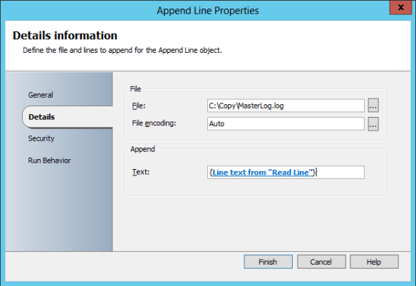 Add Append Line Activity 09
