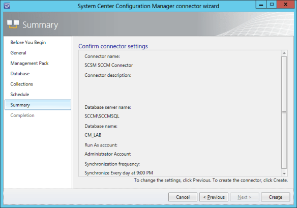 Config SCCM Conn 10
