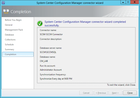 Config SCCM Conn 11