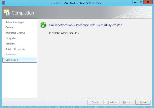 Create Notification Sub - Incident 17