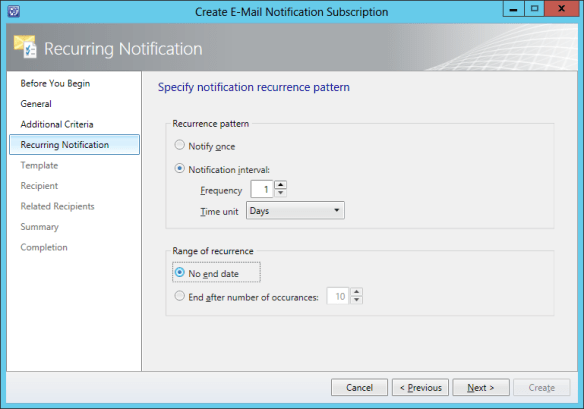 Create Notification Sub - Release Record 13