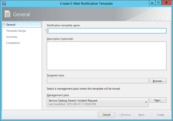 Create Notification Template - Incident 04