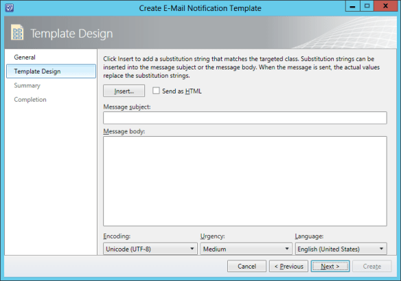 Create Notification Template - Incident 07