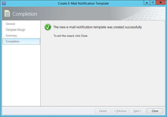 Create Notification Template - Incident 10