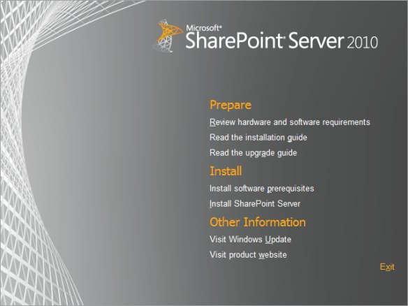 SharePoint Install 01