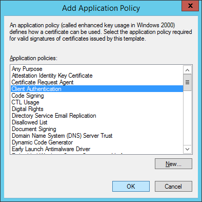 Add Application Policy