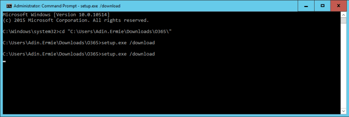 ODT - Install - Download Command