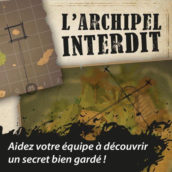"""Visuel scénario escape game """"L'archipel interdit"""""""