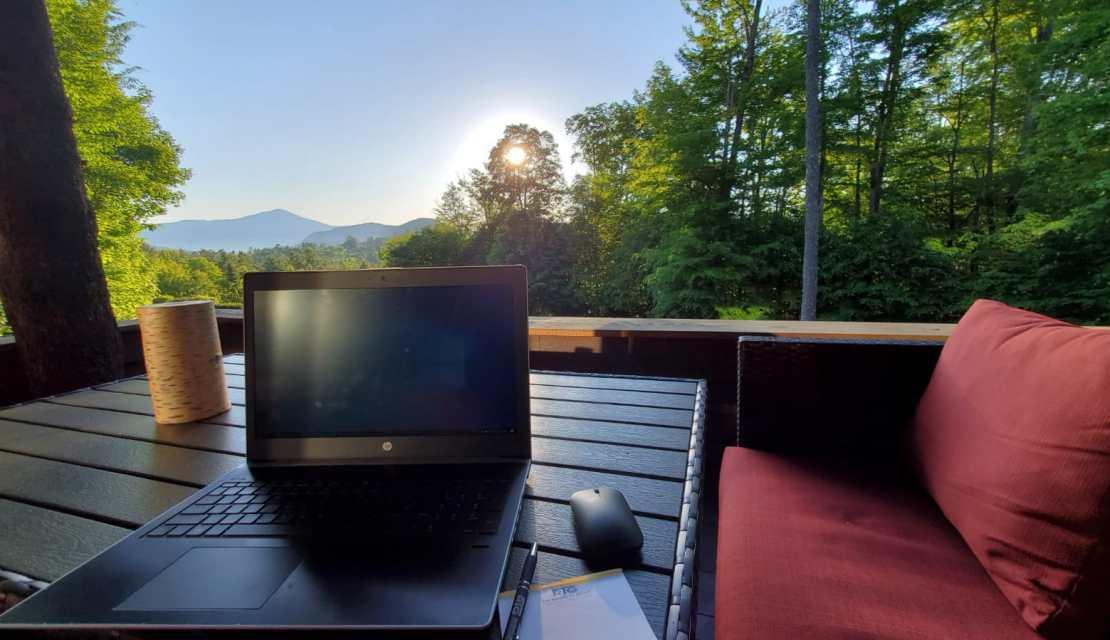Working from the Adirondacks