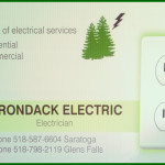 New Adirondack Electric Business Card