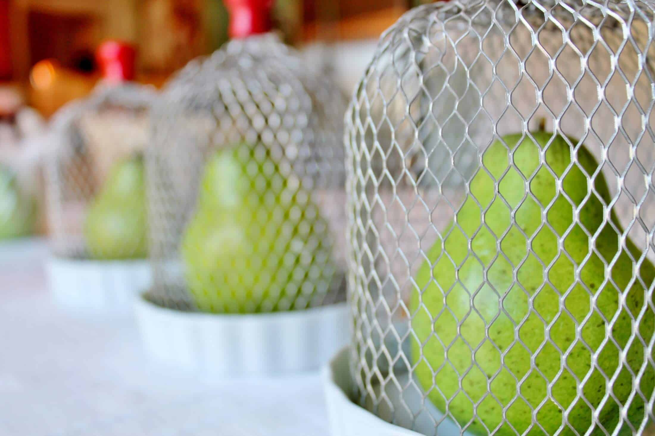 how to make wire cloches from vintage gutter guard