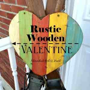 Rustic Wooden  Valentine