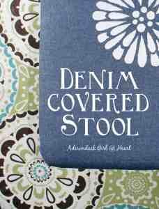 Denim Covered Stool