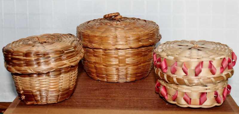 vintage native american baskets